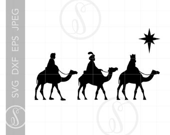 Free Png Three Kings Silhouette Png Images Transparent - 3 Wise Men  Silhouette Png Clipart (#3819959) - PinClipart