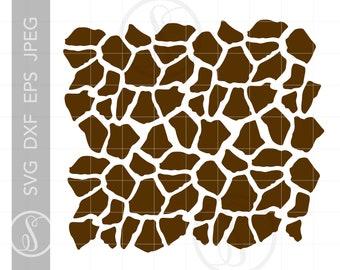 Giraffe Pattern Svg Etsy