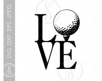 Download Love Golf Svg Etsy