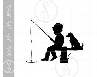 Download Boy Fishing Svg Etsy