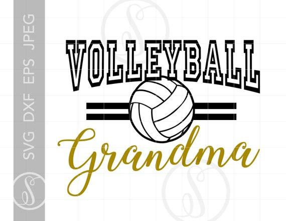 Volleyball Grandma Svg Cut Files Volleyball Grandma T Shirt Etsy