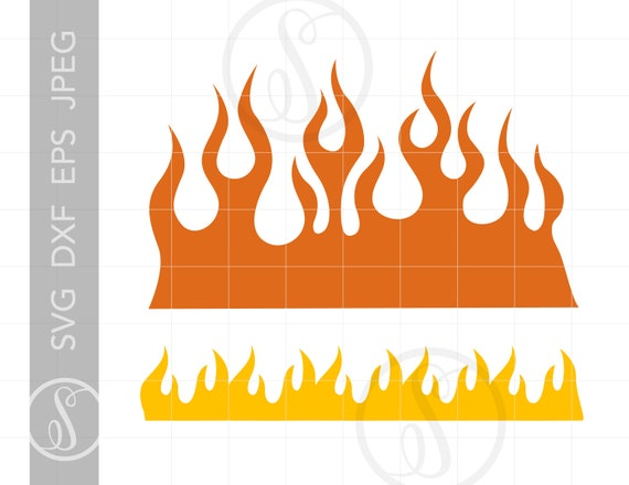 Fire Flames Svg Flames Clipart Flames Silhouette Cut File Etsy