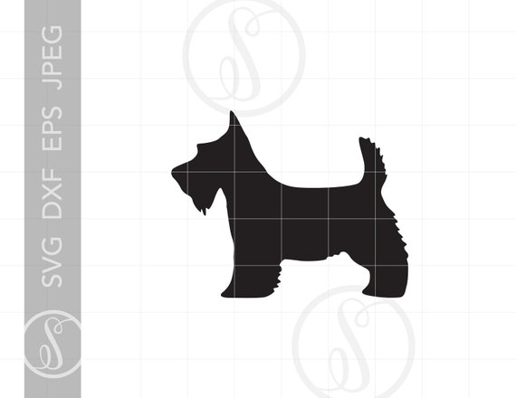 for Cricut Design Space and Silhouette Studio Scottie Dog Life SVG Design Cutting File /& includes PNG Commercial use