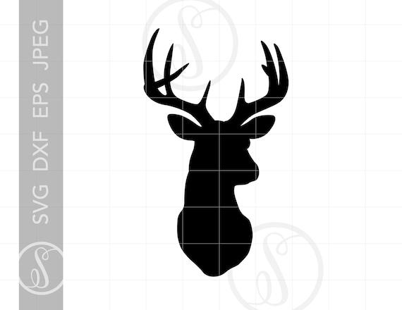 Deer Head SVG Deer Head Clipart Deer Head Silhouette Cut | Etsy