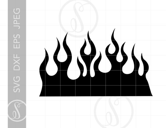 Flames Svg Flames Clipart Flames Silhouette Cut File For Etsy