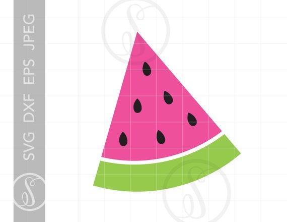Watermelon Svg Watermelon Clipart Watermelon Silhouette Etsy