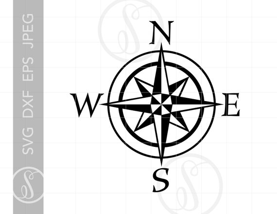 Nautical Compass Svg Compass Clipart Compass Cut File For Etsy