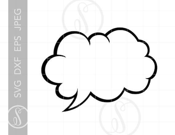 Comic Cloud Burst Svg Comic Cloud Burst Clipart Download Etsy