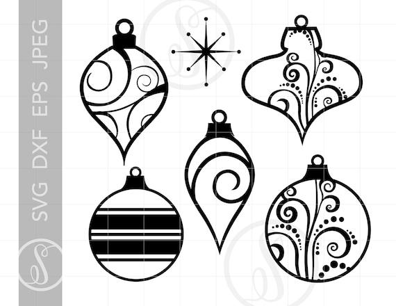 Ornaments Svg Cut File Clipart Downloads Christmas Svg Dxf Pdf Silhouette Cut Files Christmas Ornaments Clipart Svg Sc141