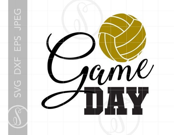 Game Day Volleyball Svg Cut Files Volleyball Game Day Png Etsy