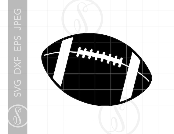 Football Svg Football Clipart Football Silhouette Cut File Etsy