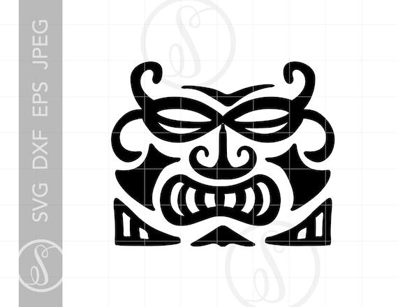 Tiki Hawaiian Totem Pole Clip Art - Tiki Man With Surfboard - Free  Transparent PNG Clipart Images Download