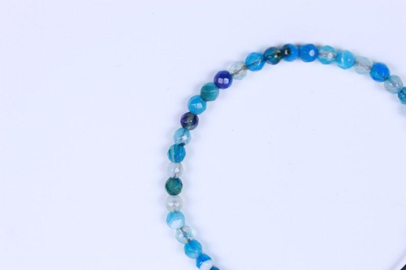 Blue Agate Chakra Bracelet Womens Bracelet Energy Yoga Bracelet Meditation Bracelet Mens Bracelet Natural Stone Small Bead Bracelet