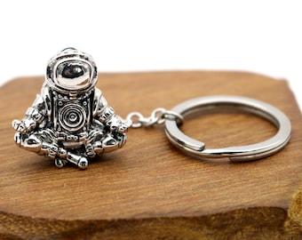 Meditating Astronaut Key Chain, Tipper Space Man, Space Gift Key Chain Galaxy Gift Universe Gift Charm Key Chain