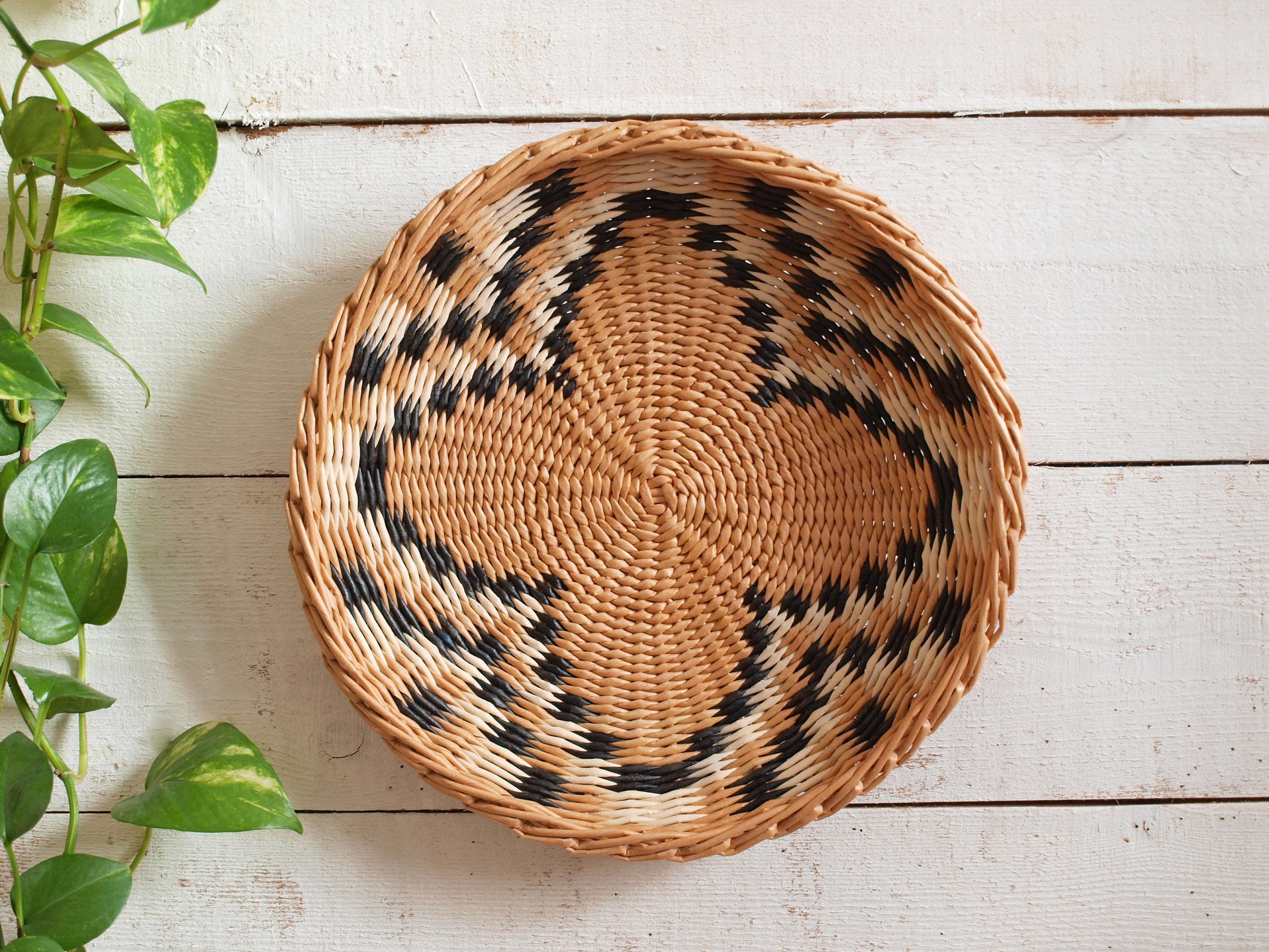 Wall Wicker Plate Wall Basket African Inspired Wall Art Boho Etsy