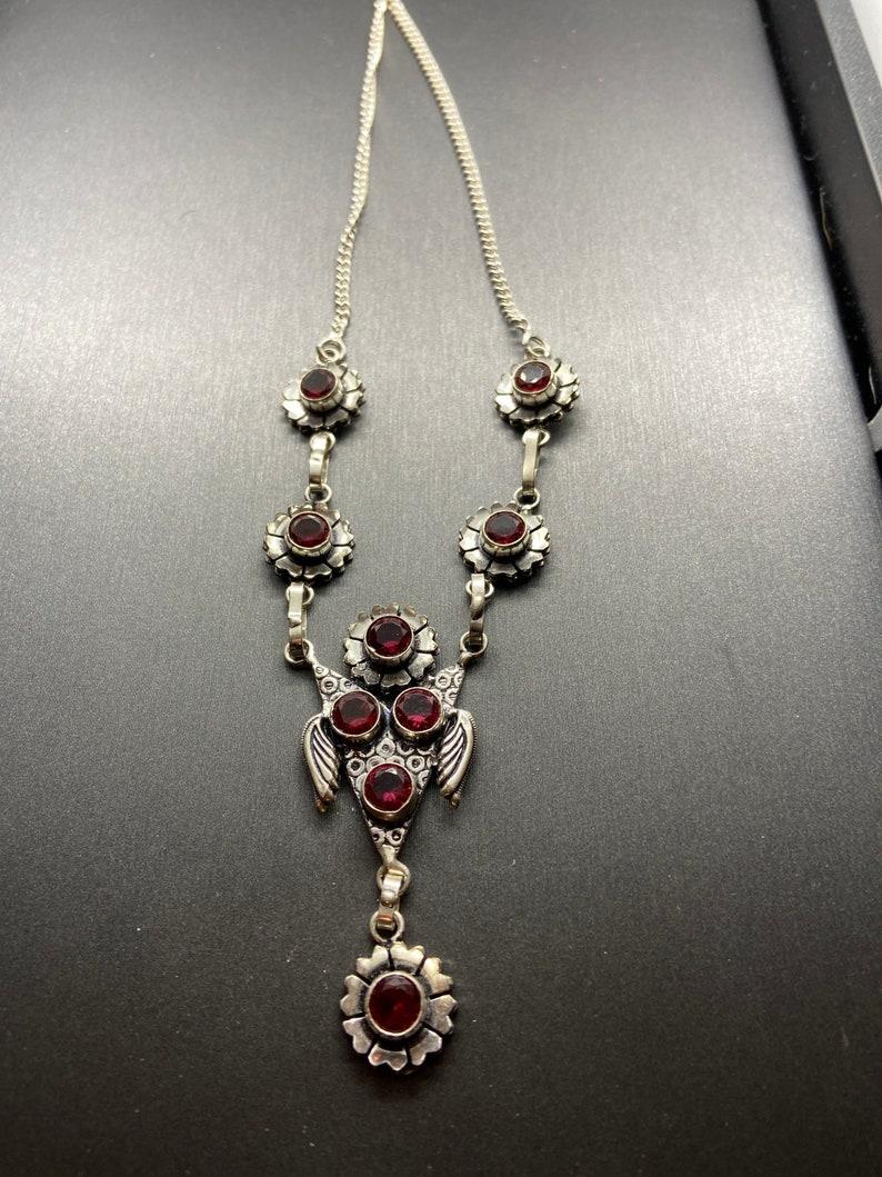 Pink tourmaline sterling silver necklace 22\u201d