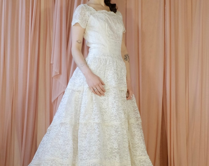 Featured listing image: Lace Multi Tiered Wedding Dress