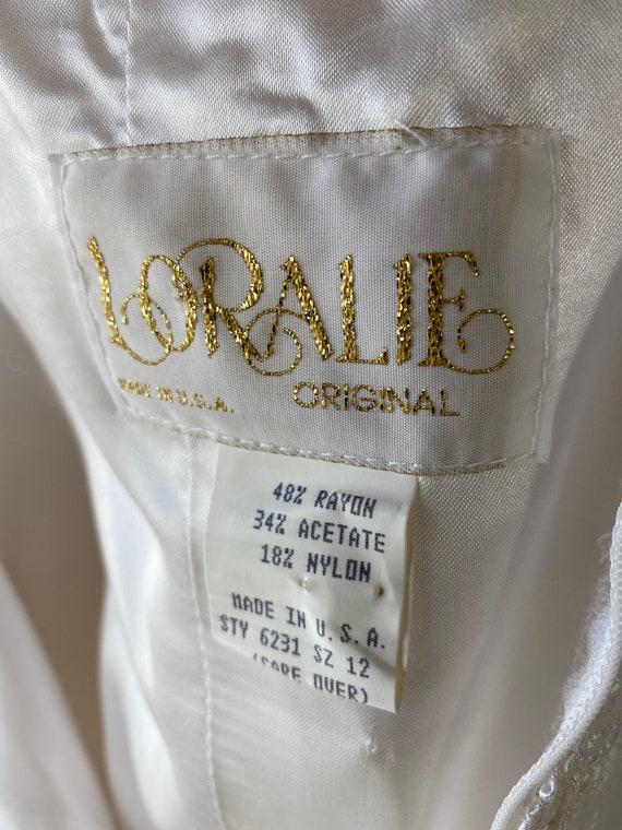 1980s Off Shoulder Lace Wedding Dress - image 10