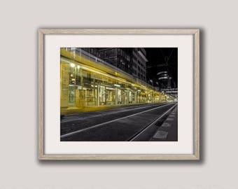 Transport, Tram Stations, Prague, Tram Print, Train Photography, Train Photo, Station Print