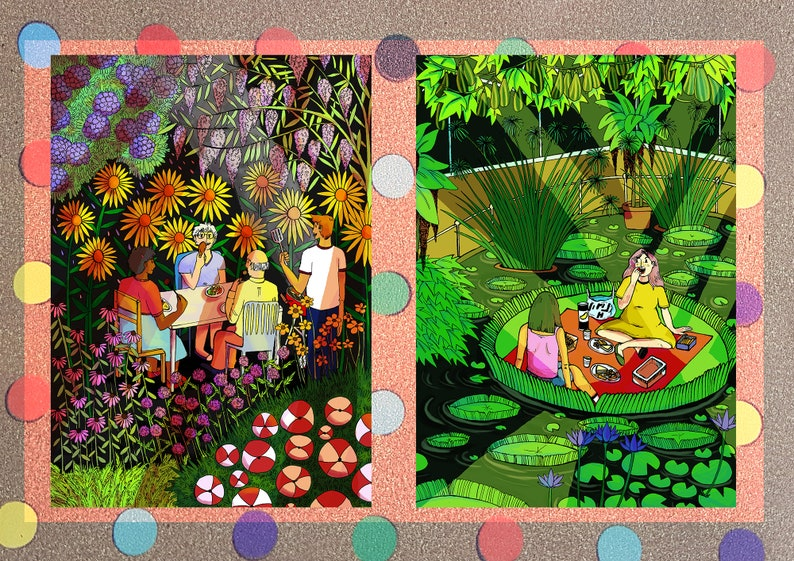 A5 Full Colour Summer Postcards