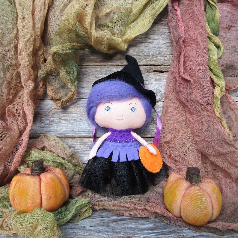 Dolls House Miniature Halloween Crate Pumpkin Witch Broom Vegetables Wooden Box