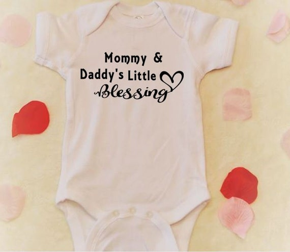 Mommy Daddy S Little Blessing Onesie Baby Girl Clothes Etsy