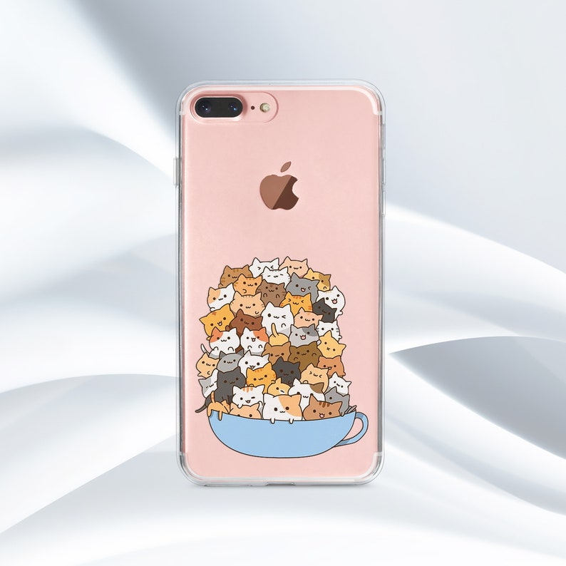 best service ef33b 12faf Cats iPhone Case Funny iPhone Case iPhone 7 Case iPhone 8 case Silicone  Case Samsung S9 Case iPhone 6s Case Samsung S8 Plus iPhone X Case