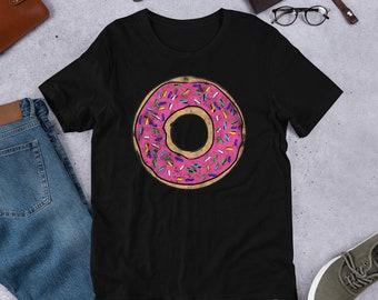 661a0d556 Vintage Big Pink Donut Shirt, Donut Shirt, doughnut shirt, donut party, funny  donut shirt, graphic tee, donut tee, big donut, pink donut