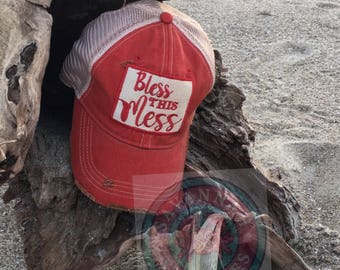 Vintage,Truckers hats,Bless,Savannah,Southern,Monogram