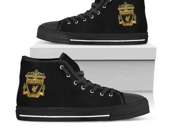 Liverpool, Liverpool Shoes, Liverpool High Top, Liverpool Custom Converse