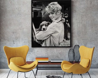 Brigitte Bardot, Brigitte Bardot poster, Brigitte Bardot print,Brigitte Bardot Canvas, Home decoration, Wall decor, Wall art