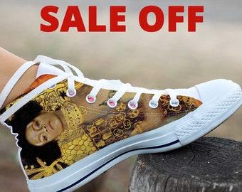 Rihanna,Rihanna Shoes, Rihanna White High Top, Rihanna Custom Converse