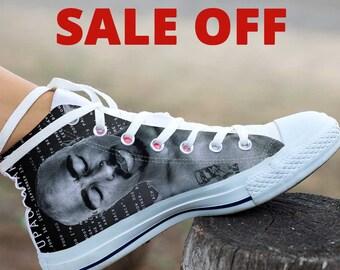 Tupac, Tupac Shoes, Tupac High Top, Tupac Custom Converse, Tupac Custom Shoes, Tupac Sneaker