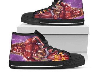 Wwe, Wwe Shoes, Wwe High Top, Wwe Custom Converse, Wwe Custom Shoes