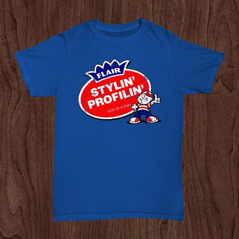 c8505a81f44 Ric Flair WWE Retro Vintage Fleer Double Bubble Gum T-shirt