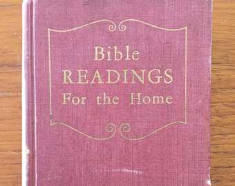 1951, Bible Readings for the Home, by Review and Herald Publishing Assn., vintage Christian book
