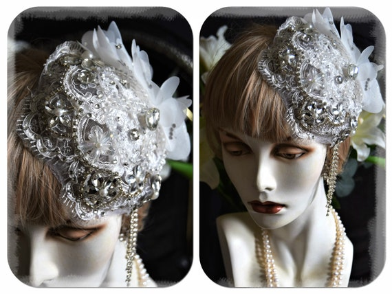 1920s juliet cap 1920s wedding hat 1920s wedding h