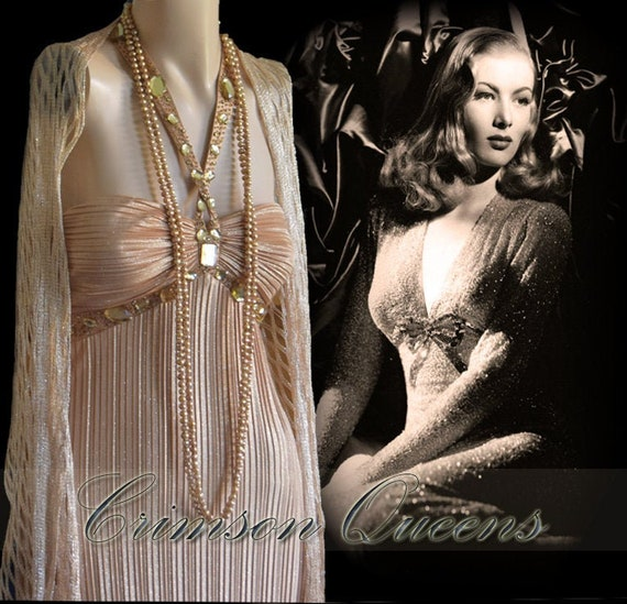 1930s gown 1930s gold gown Downton Abbey gown Even