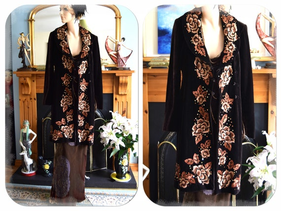 vintage opera Coat 1920s coat flapper opera coat A
