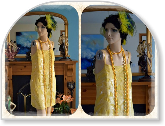 flapper dress 1920s dress flapper sequin dress Gre