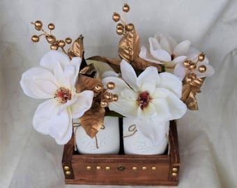 Mason Jar Centerpiece,Mason Jar Centerpiece, Christmas Mason Jar, Christmas Decor, Table Decor