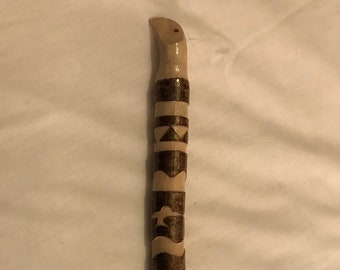 Crystal tipped bird healing wand