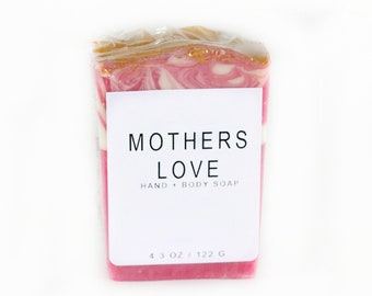 Mothers Love Artisan Handmade Soap, Cold Process, Hand and Body Soap, Roses,