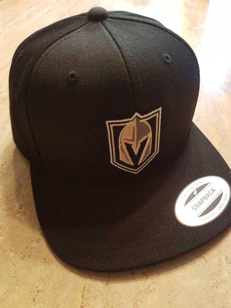509adc6c9c442 Las Vegas Golden Knights Hat Flat Bill Cap Black Yupoong