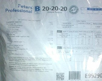 Peter's 20-20-20. 2 Pounds. General Purpose Water Soluble Fertilizer with Micro Nutrients.