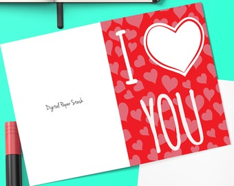 Editable Love Greeting Cards Card For Boyfriend Birthday Gift Girlfriend Anniversary Gifts 1st