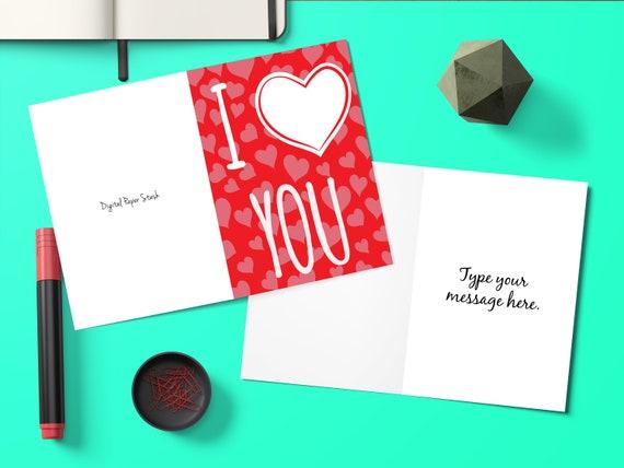 Editable Love Greeting Cards Card For Boyfriend Birthday