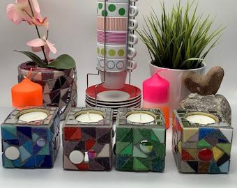 Mosaic handmade tealight holder