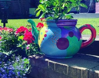 Modern design indoor and outdoor teapot planter