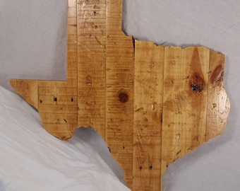 Exceptionnel Texas Shape, Distressed Texas Shape, Reclaimed Wood, Texas Wood Wall Decor